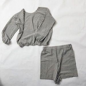 Striped cotton matching set